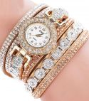 PU Leather  Rhinestone Bracelet Watches