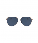 Oversized Pilot Oval Aviation Metal Frame Mirror Sunglasses