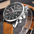 Fashionable Brown Sports Quartz Wrist Watch for men