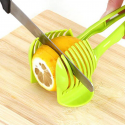 1PC Plastic Green Manual Slicers Tomato Slicer Fruits Cutter