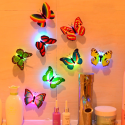 Lamp with different Color Butterfly Indoor Light with Suction
